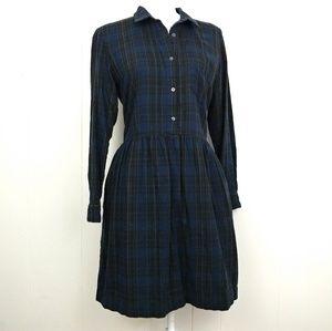 Gap Long Sleeved Plaid Dress Size Medium